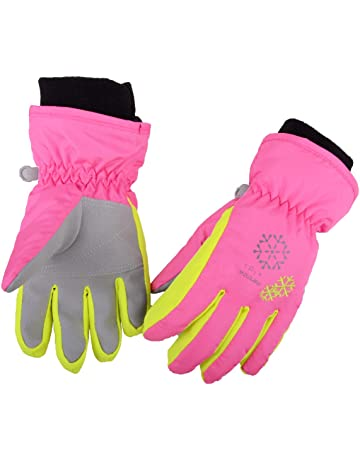 Thicken Insulated Baby Girls Boys Ski Gloves Fleece Lining Thermal Windproof Warm Snow Gloves Winter Sports Snowboard Cycling Bike Mittens Camping Gloves for Kids 1-3 Years