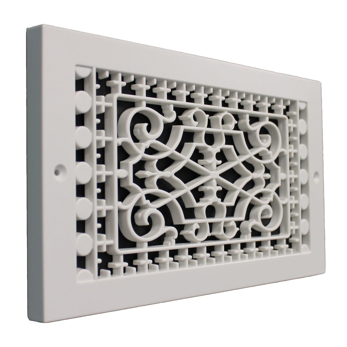 SMI Ventilation Products VBB612 Cold Air Return - 6 in x 12 in Victorian Style Base Board - Outside Dimensions 8 in x 14 in