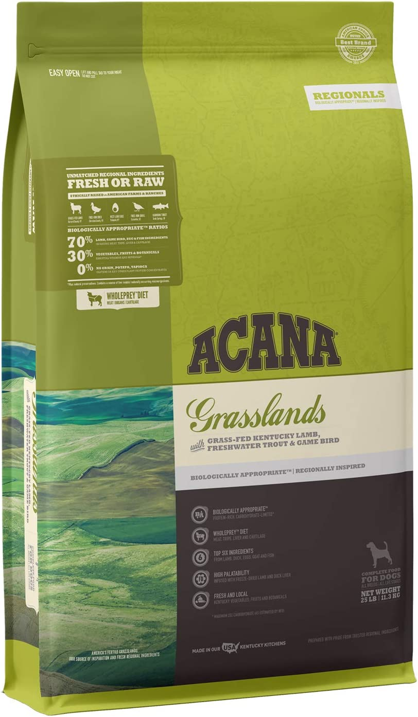 Acana Grain Free Dry Dog Food, High Protein, Freeze-Dried Coated