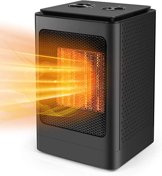 Safe Electric Heater with Tip-Over /& Overheat Protection Heater with Cooling Fan Air Choice Small Space Heater with 1500W PTC Heating Element Space Portable Heater Electric Heater for Indoor Use