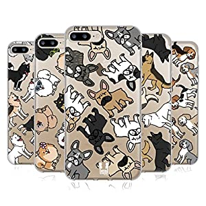 Head Case Designs Dog Breed Patterns Soft Gel Case for Apple iPhone 7 Plus