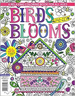 Birds And Blooms Coloring Book Summer 2016