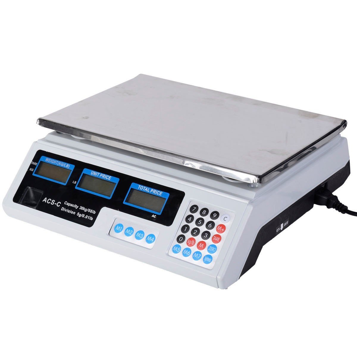 Apontus 66 LB Digital Scale Price Computing Deli Food Produce Electronic Counting Weight by Apontus
