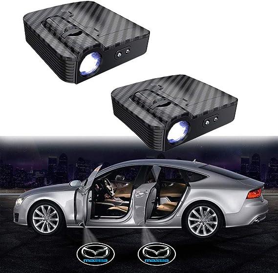 Imagen deMIVISO Puerta de coche mejorada Led Logo Luz del proyector Sin imán Lámpara inalámbrica Sensor infrarrojo inteligente Bienvenido Ghost Shadow Light 2 piezas