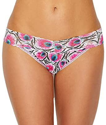 97ecfc73083f Image Unavailable. Image not available for. Color: Hanky Panky Pink Plumes  Original Rise Thong ...