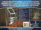 Paradise 4 Pack Solar Powered LED Accent Light (Stainless Steel)