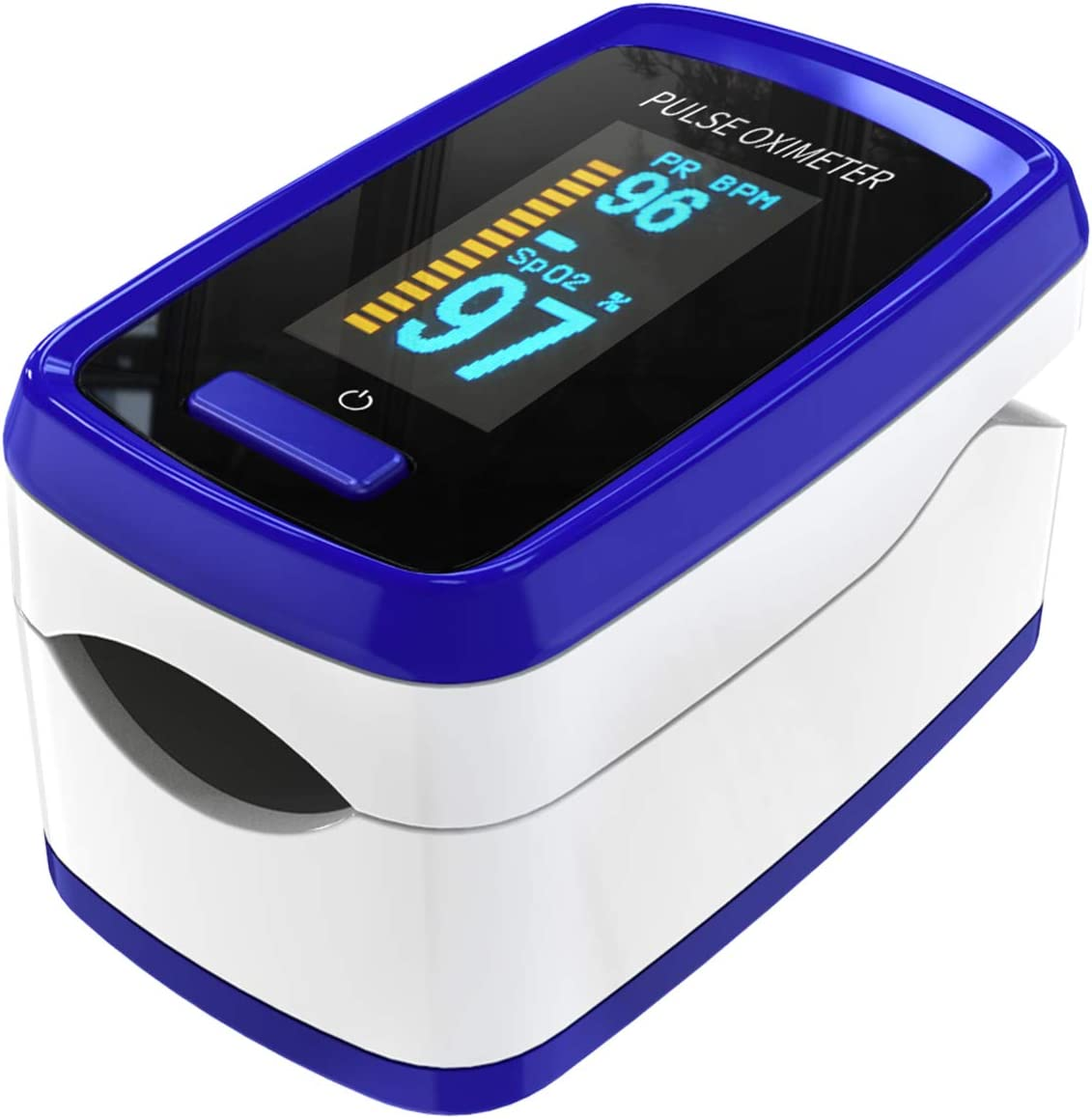 Oxímetro de pulso para dispositivo de medición de oxígeno del dedo, Pulse Oximetro el dispositivo de medición de dedo mide la frecuencia del pulso de saturación de oxígeno, oxímetro con pantalla OLED