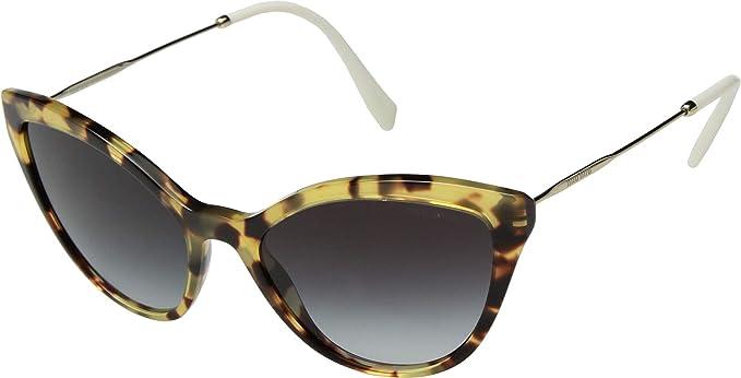 76565a785e3 Miu Miu SMU 03U BLONDE HAVANA GREY SHADED women Sunglasses  Amazon.co.uk   Clothing
