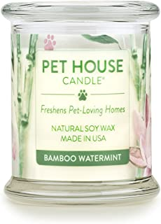 product image for One Fur All - Pet Odor Eliminator Natural Soy Wax, Bamboo Watermint, 8.5 Oz Jar