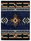 Western Collection Southwest Native American Indian Area Rug Design In Navy Blue 318 Navy Blue 3'10''X5'1''