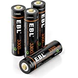 EBL USB Rechargeable Lithium AA Batteries - 1.5V 3300mWh Long Lasting Rechargeable Double A Li-ion Batteries with Micro…