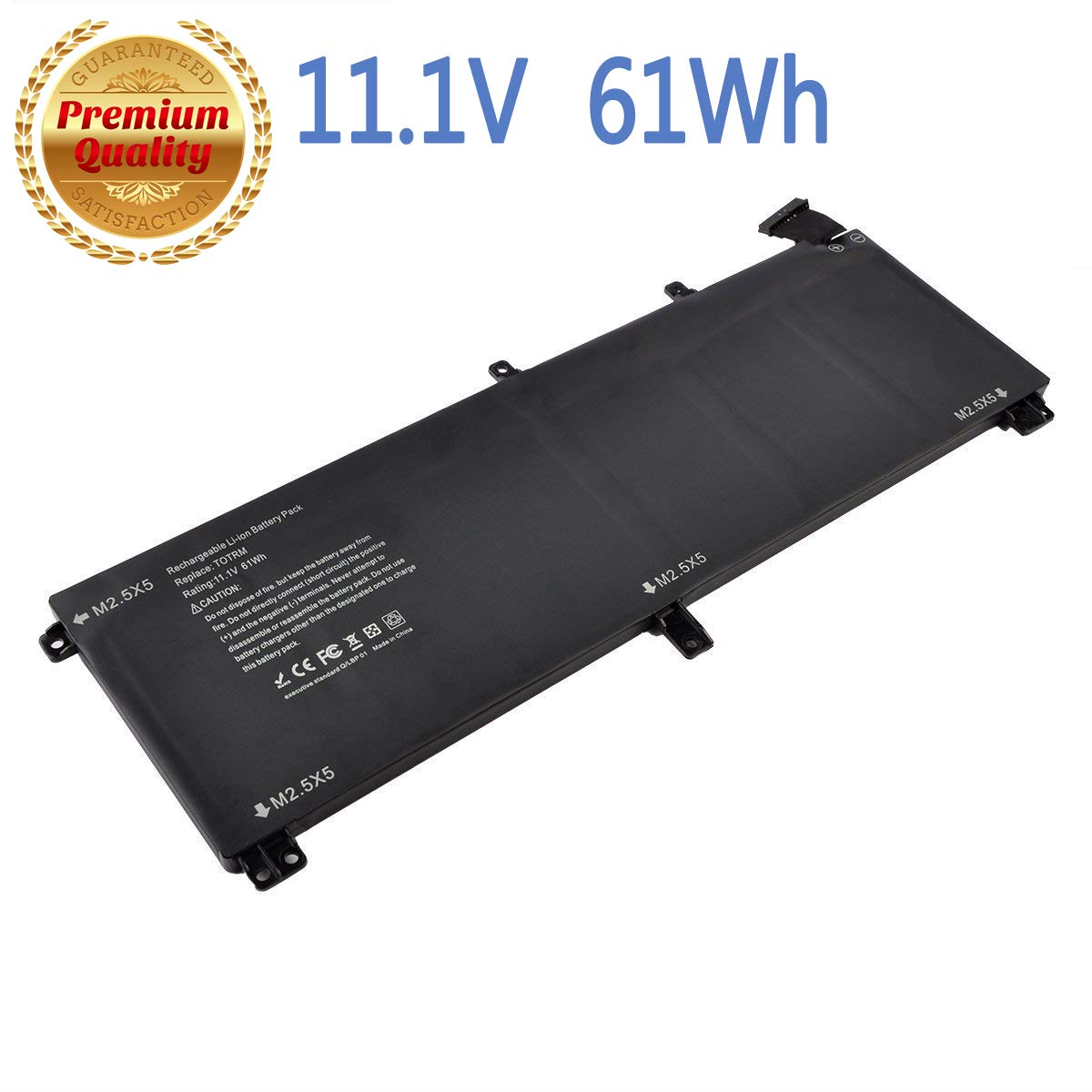 T0TRM, 245RR Laptop Battery Compatible with Dell XPS 15 9530,Precision M3800 Series[Li-Polymer 61WH 11.1V] -18 Months Warranty