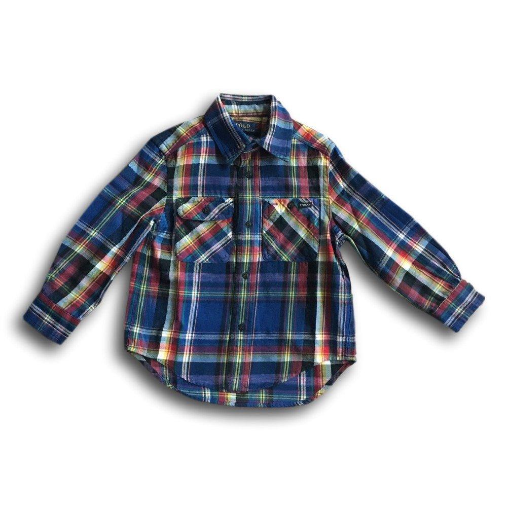 5cc46e636 Amazon.com: Ralph Lauren Polo Boys Plaid Cotton Twill Workshirt Small 4 4T:  Clothing