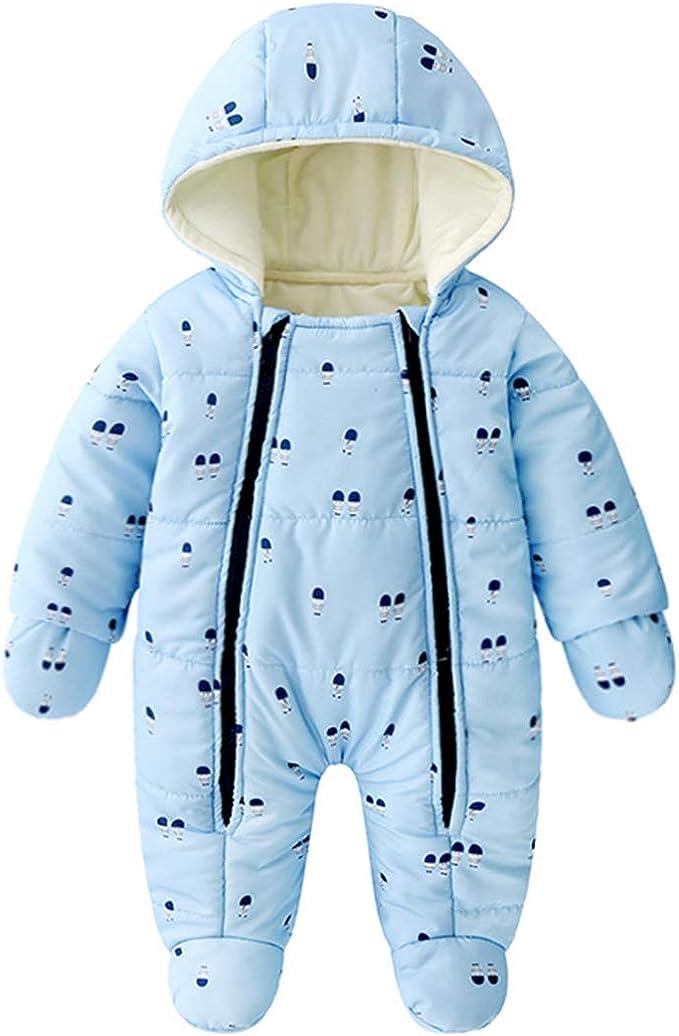 Amazon.com: Lemohome - Traje de nieve para bebé con forro ...