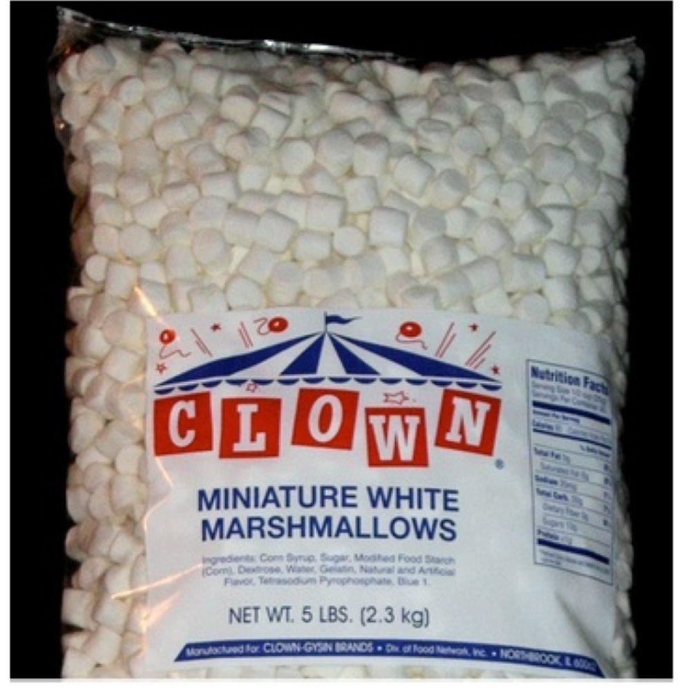 Clown Global Brands White Mini Marshmallows - 5 lb. poly bag, 4 per case by Clown Global Brands