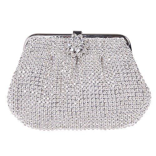 mini da intero argento diamante borsa pochette borsa morbido Fawziya sera wnTZqxq