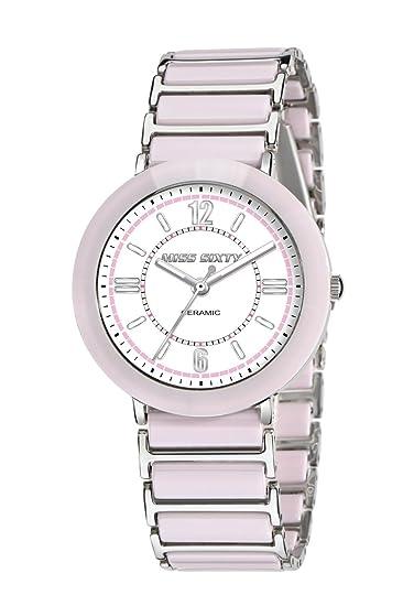 Miss Sixty Sir003 - Reloj para niñas de cuarzo, correa de cerámica color rosa: Amazon.es: Relojes