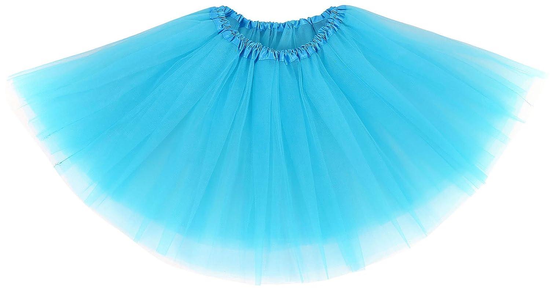 AshopZ Women 3-Layered Ballet Tutu Skirt, Tulle Fibers &Classic Elastic Burgundy 88-B14050050-21