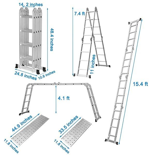 Finether Multi-Purpose Folding Ladder