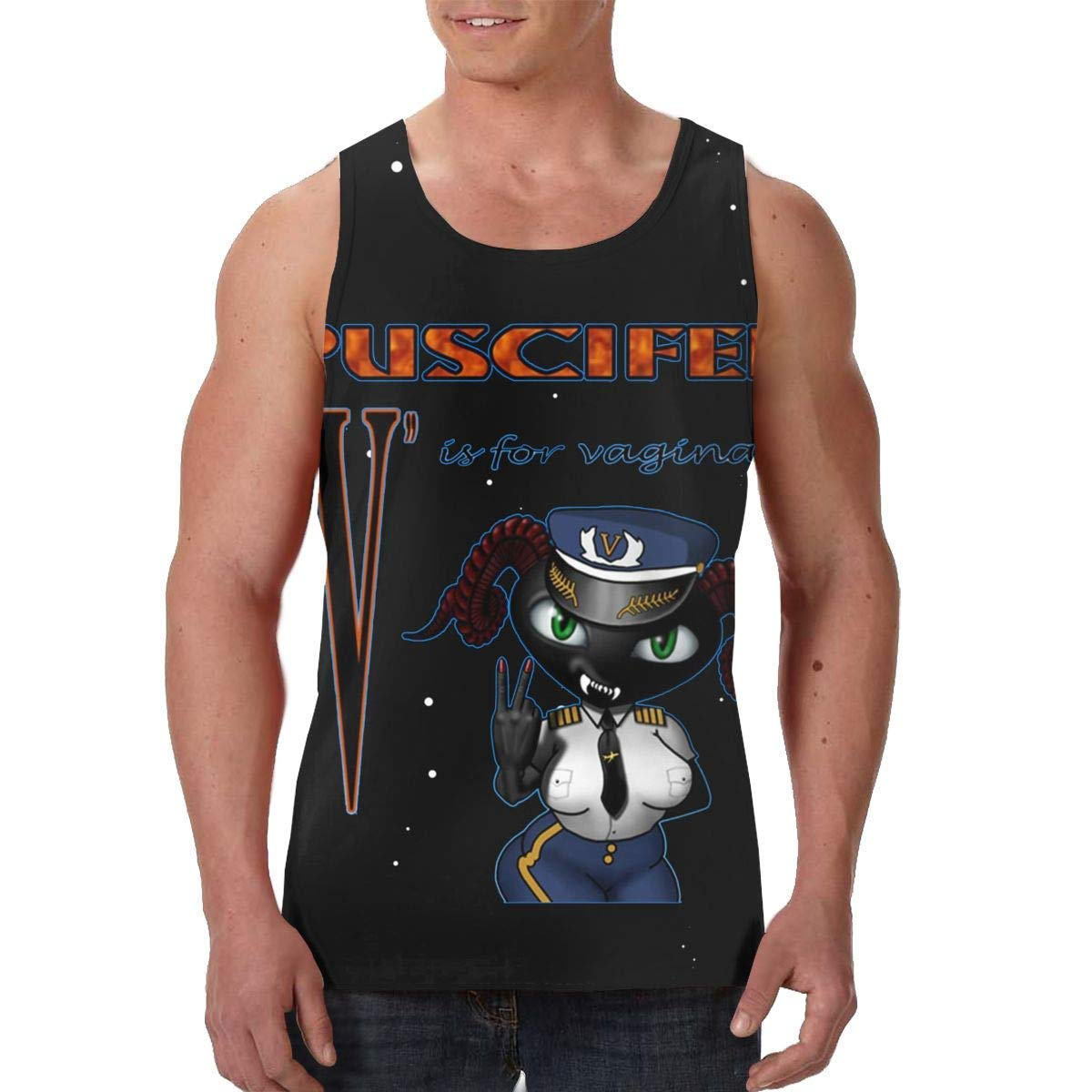 TCJX Puscifer V is Vagina Mens Classic Muscle Tank Top Tee