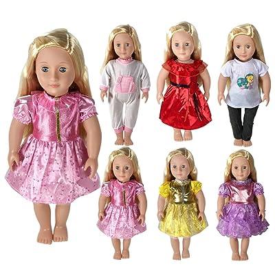 CZC GIFT Ropa para Muñeca 18 Pulgadas(45cm) - Vestidos para Muñeca Hechos a Mano de Moda para Muñecas de 18 Pulgadas (6PCS): Juguetes y juegos