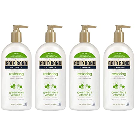 PACK OF 4 – Gold Bond Ultimate Skin Therapy Lotion Restoring Green Tea Vitamin C, 13 Ounce