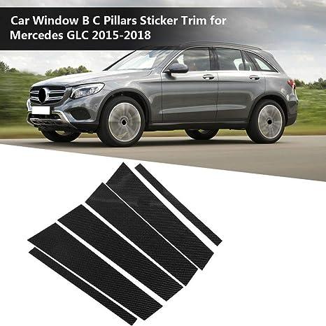Suuonee Window B Pillar Trim Carbon Fiber Car Window B-pillars Trim Cover Decorative Sticker for 3 Series E90 2005-2012