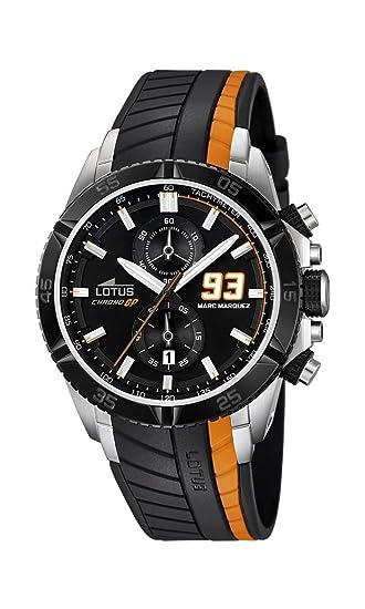 09e3ec48a1ac Lotus Marc Marquez collezione 2014-Orologio da uomo al quarzo con Display  con cronografo e cinturino in gomma
