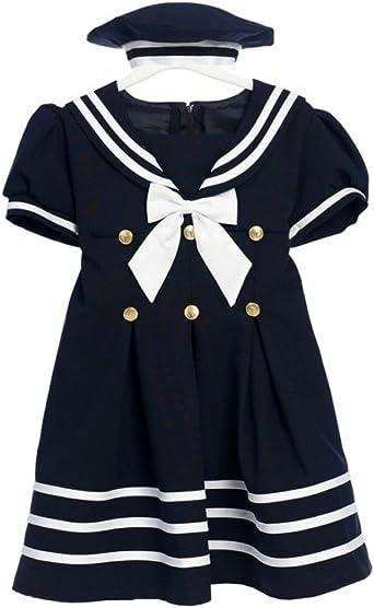 Luxury sailor costume for  girl sailor girl dress sailor dress for toddler classic sailor dress