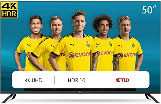 CHiQ Televisor Smart TV LED 50 Pulgadas 4K UHD, HDR 10/HLG, WiFi, Bluetooth, Youtube, Netflix, Prime Video, 3 x HDMI, 2 x USB: Amazon.es: Electrónica