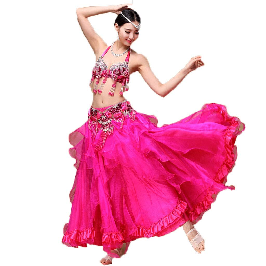 お待たせ! ベリーダンスの練習服コスチューム手作りビーズブラセットスプリットクロススカート L B07PM1ZSPB L B07PM1ZSPB l|ローズ ローズ L L l, シーボディオフィシャル:411da1de --- a0267596.xsph.ru