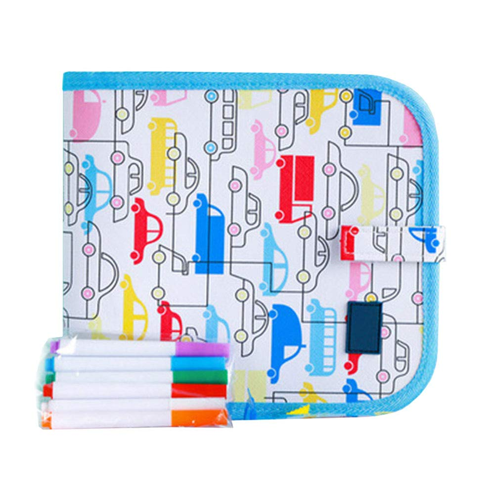 Tenflyer Portable Painting Book Graffiti Board Writing Pad Erasable Drawing Gift for Children