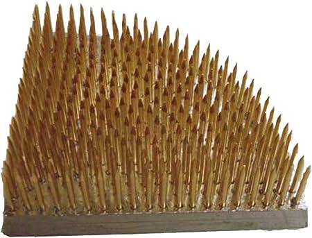 Kenzan Fan Shape Brass 3 X 3 Japan