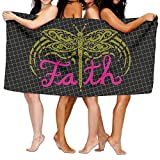 Faith Dragonfly 100% Polyester Velvet Absorbent Bath Towel 31 X 51 Inches