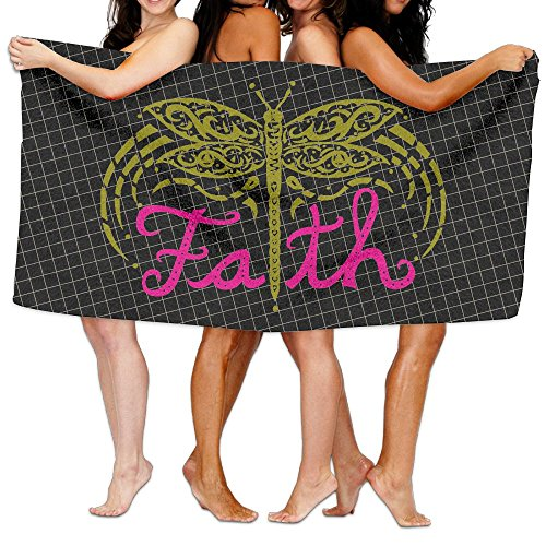 Faith Dragonfly 100% Polyester Velvet Absorbent Bath Towel 31 X 51 Inches by JYDPROV