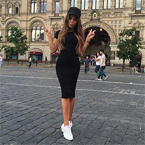 de Mujer Elegante Playa Maxi Boda de Playa Vestido Noche TM Noche Casual Boho Maxi Sundress Vestidos Vestido Damark Mujer 9 Falda Fiesta Negro Verano Largo Mujer PfCqxX