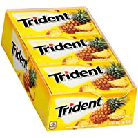 Trident Pineapple Twist Sugar Free Gum - with Xylitol - 12 Packs (168 Pieces Total)