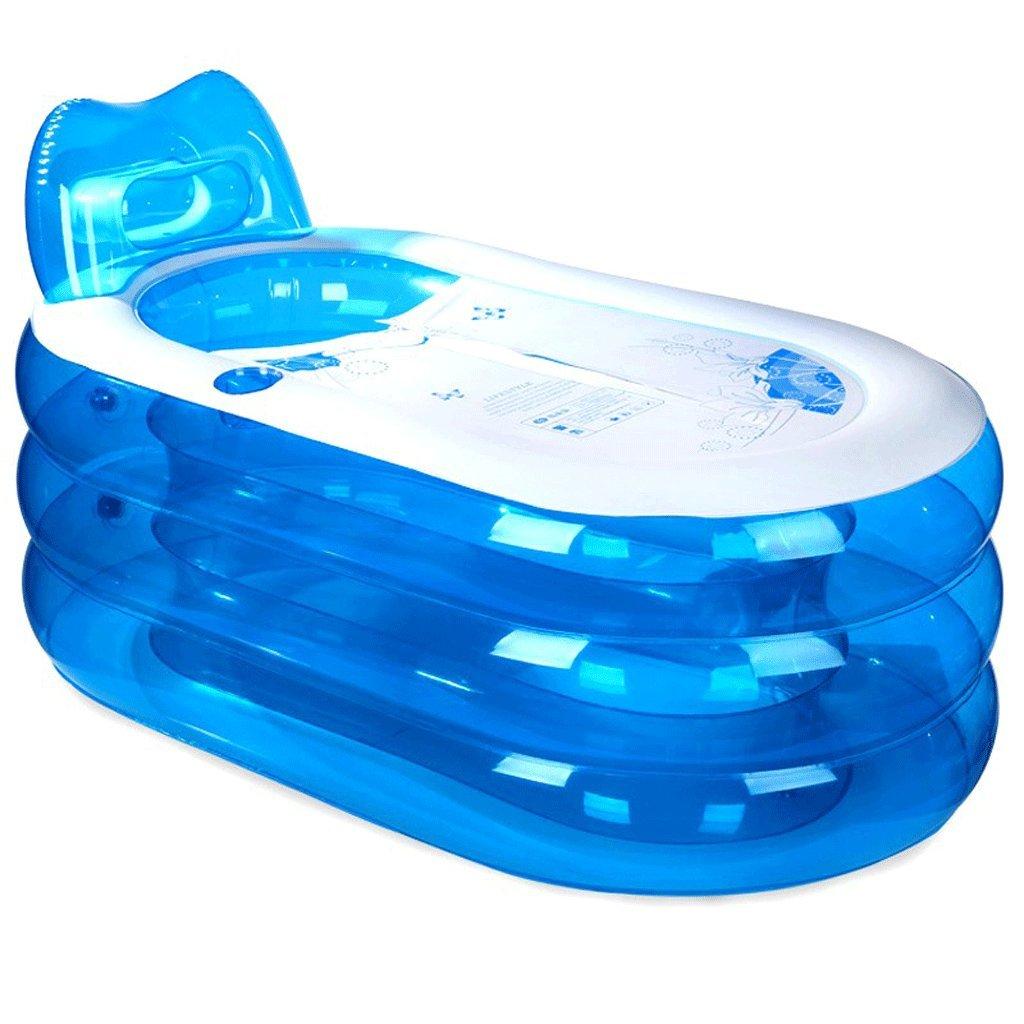 Inflatable bath, the tub is folded, thickened adult tub bath tub bath barrel plastic. Bathtub