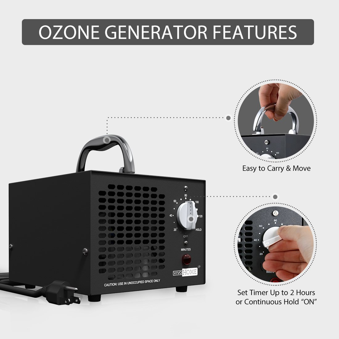 VIVOHOME Commercial 5000mg/h Ozone Generator O3 Industrial Air Purifier by VIVOHOME (Image #4)