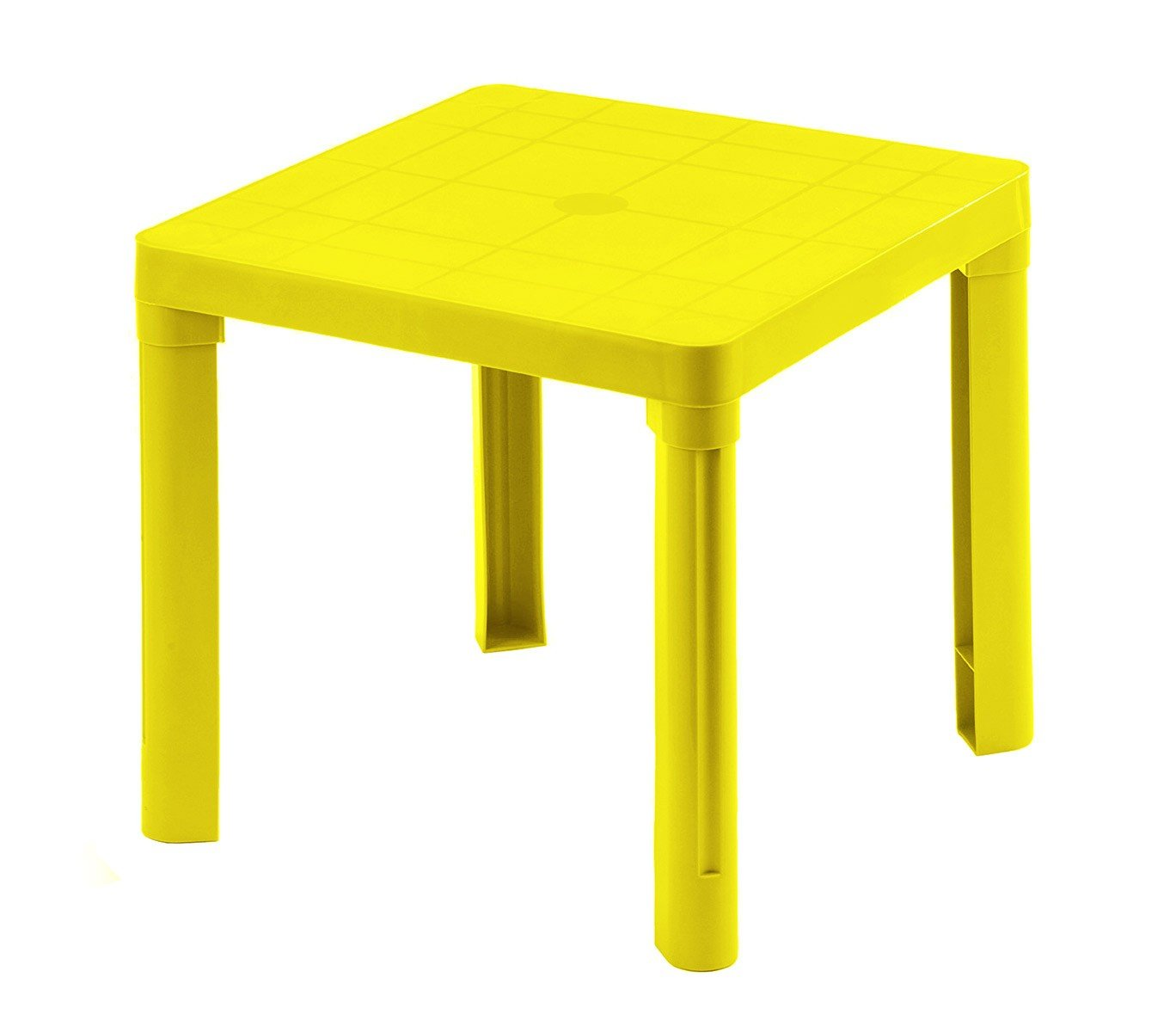 MEDIA WAVE store 240335 Tavolo per Bambini in plastica 50 x 50 cm smontabile in plastica Rigida di Colore Giallo