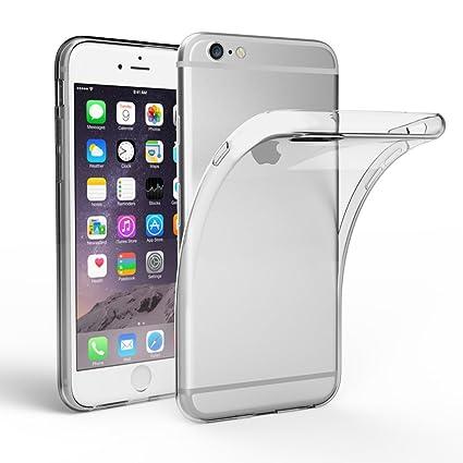 EasyAcc Hülle Case für iPhone 6 6S, Dünn Crystal Clear Transparent Handyhülle Cover Soft Premium-TPU Durchsichtige Schutzhüll