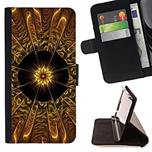 DEVIL CASE - FOR Sony Xperia M2 - Abstract Flower - Style PU Leather Case Wallet Flip Stand Flap Closure Cover