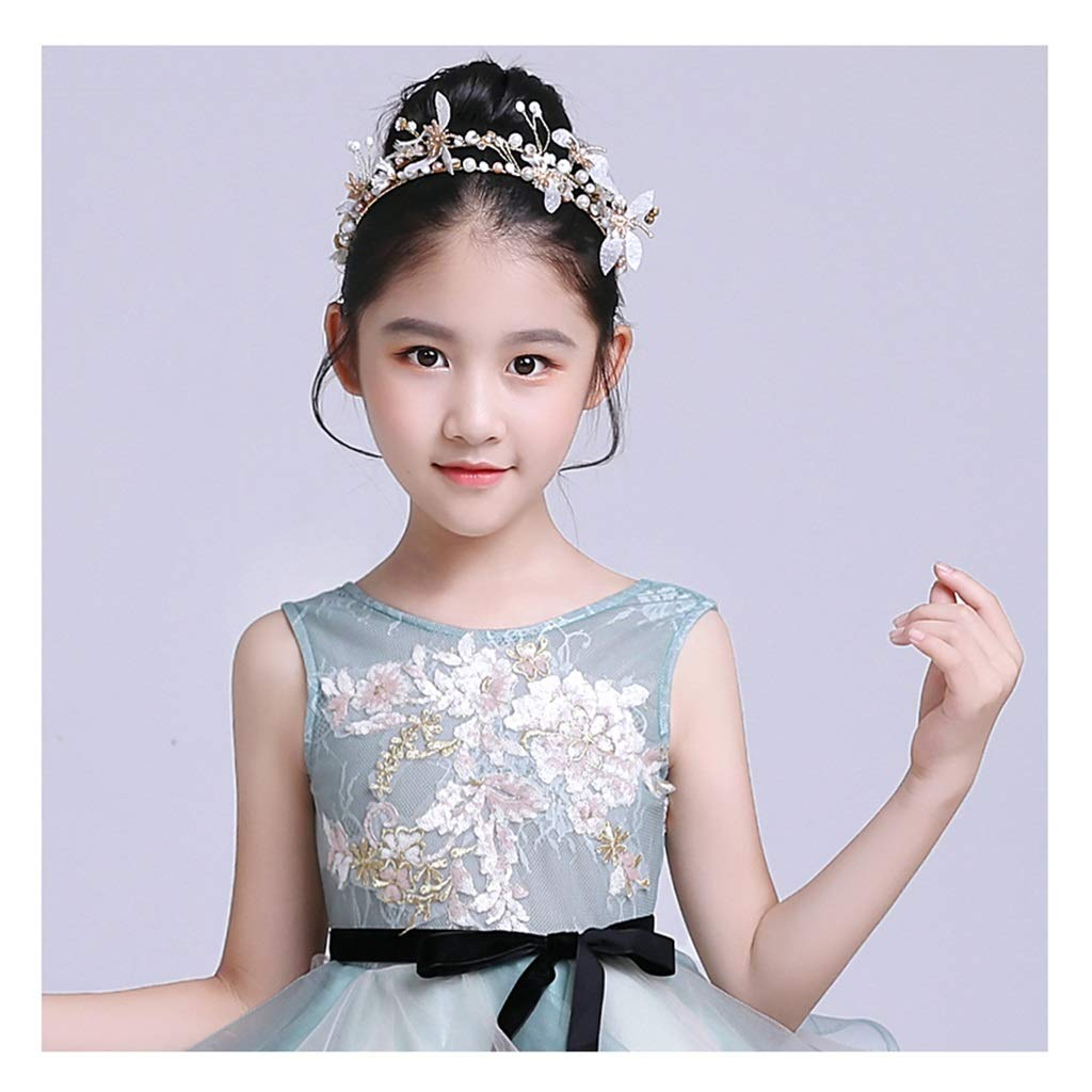 Wreath Flower Girl Pearl Flower Hair Accessory Princess Tiara Show Dress Headdress