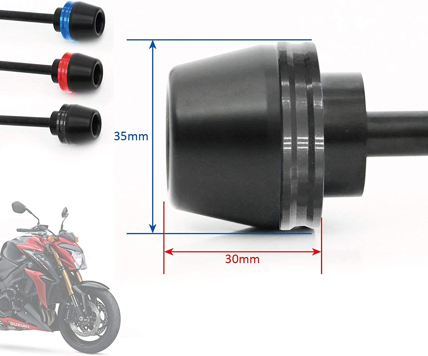 KETABAO RED CNC Front Wheel Axle Sliders Fork Slider For GSX-R 1000 2001-2004 2002 2003
