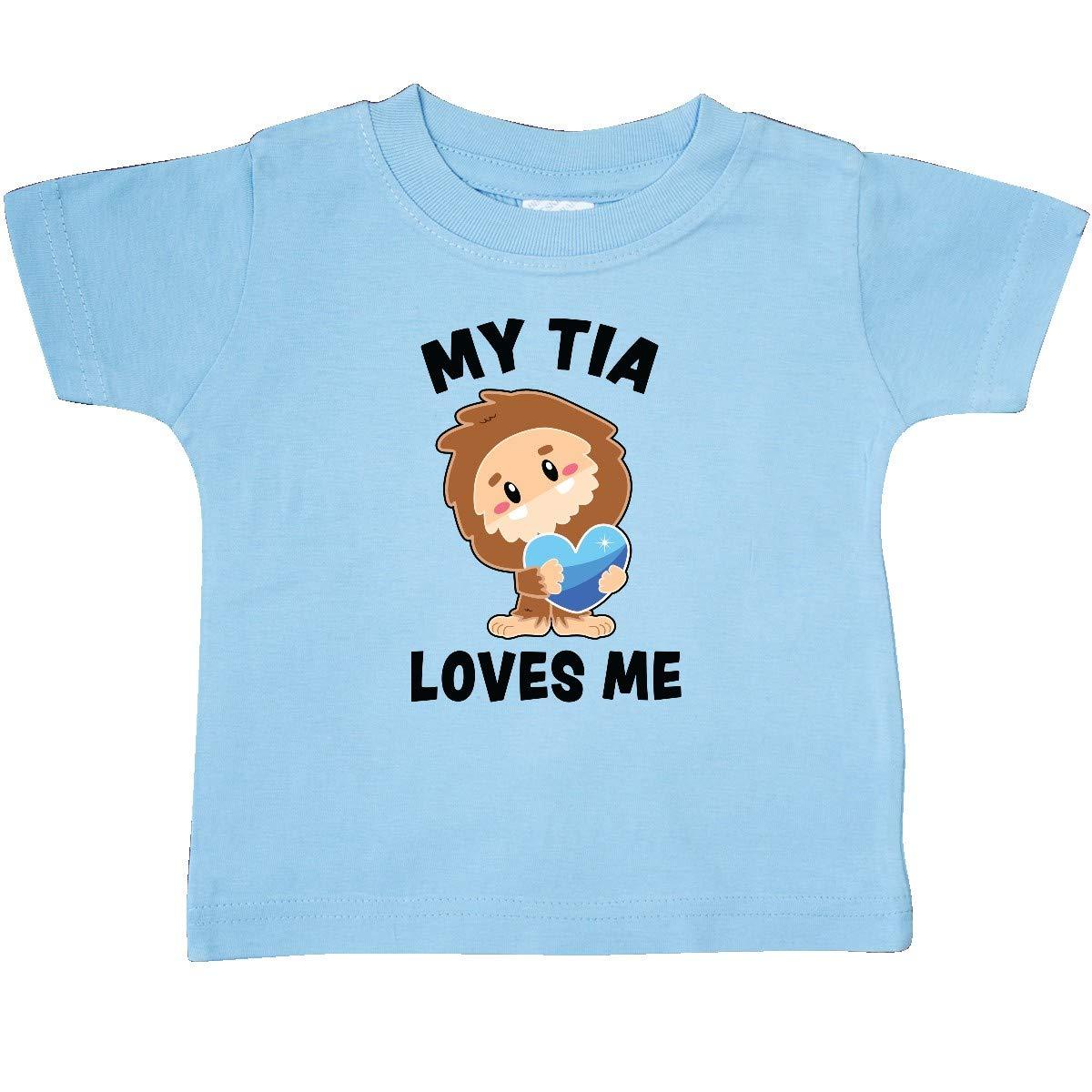 inktastic Cute Bigfoot My Tia Loves Me Baby T-Shirt