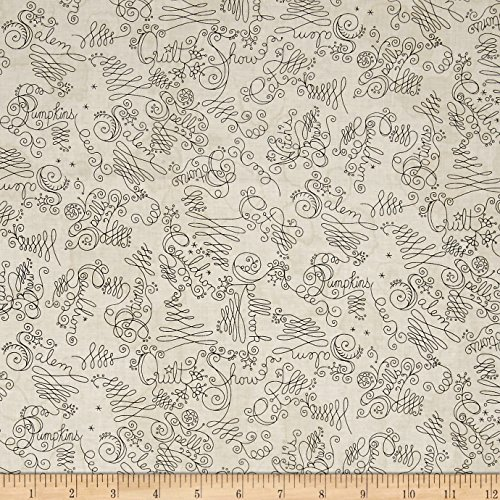 Maywood Studio Salem Quilt Show Script Natural Fabric By The Yard Show Cotton Quilt Fabric