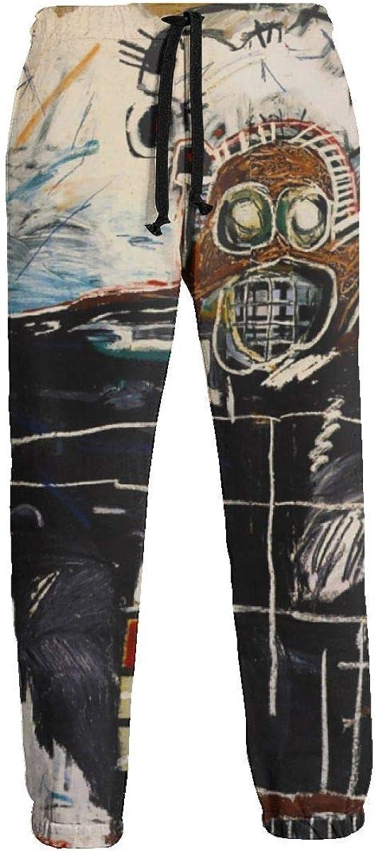 IofuGofu Jean-Michel Basquiat Unisex 3D Digital Print Sports Jogger Pants Casual Graphic Trousers Sweatpants with Drawstring White