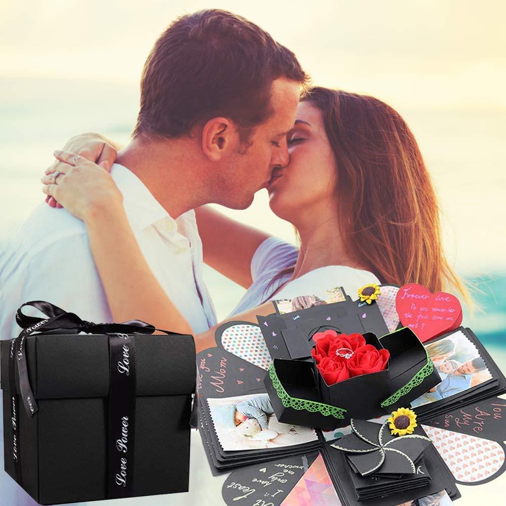 Koogel Explosion Gift Box Set,17inch x 17inch Surprise Box Album Box DIY Surprise Gift Box for Marriage Proposals Making Boyfriend Birthday Valentine\'s Day Mother\'s Day & Wedding