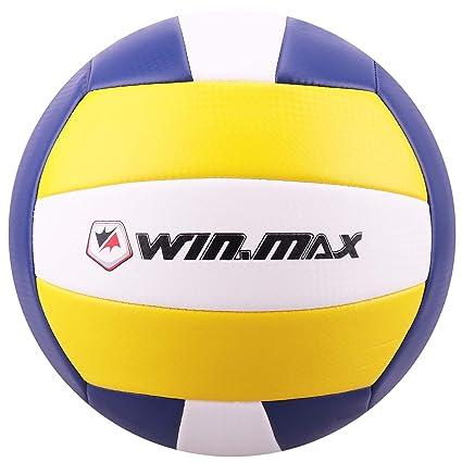 Volleyball - Balón de Voleibol de Playa, Talla 5 (Amarillo/Armada ...