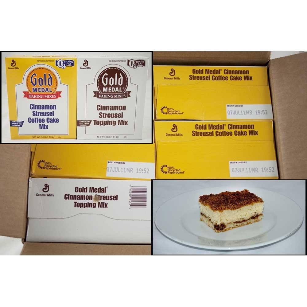 Gold Medal Cinnamon Streusel Coffee Cake 4 Case 5 Pound